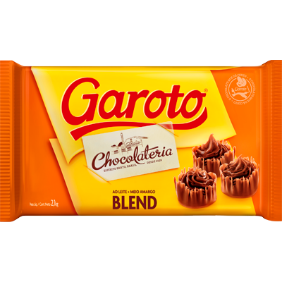 Barra de chocolate meio amargo blend 2,1kg Garoto  UN