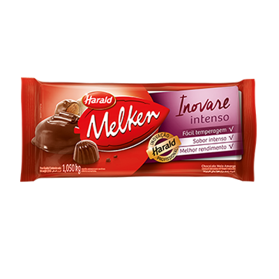 Barra de chocolate meio amargo intenso 1kg Inovare/Harald UN