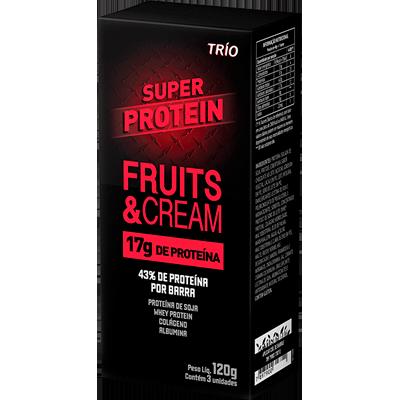 Barra de Proteína fruitscream 40g Trio unidade UN