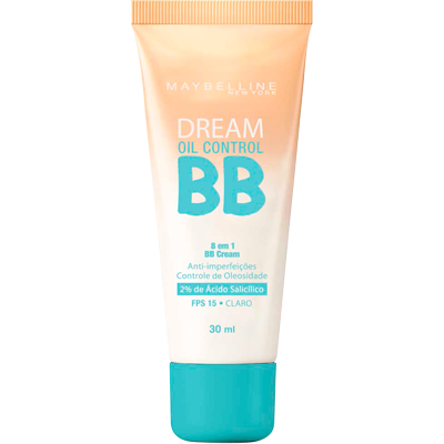 Base BB Cream proteção FPS 15 oil control claro 30ml Maybelline  UN