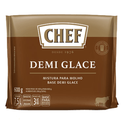 Base para molho escuro demi glace em pó 600g Nestlé/Chef pacote PCT