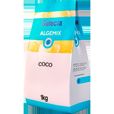 Base para sorvete sabor coco 1kg Algemix pacote UN