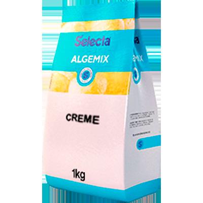 Base para sorvete sabor creme 1kg Algemix pacote UN