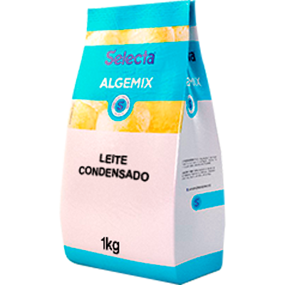 Base para sorvete sabor leite condensado 1kg Algemix pacote UN