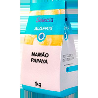 Base para sorvete sabor mamão papaya 1kg Algemix pacote UN