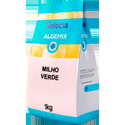 Base para sorvete sabor milho verde pacote 1kg Algemix UN