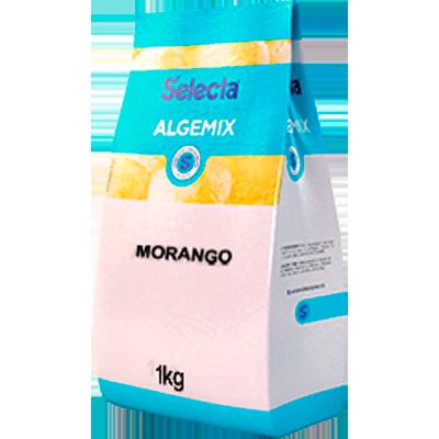Base para sorvete sabor morango pacote 1kg Algemix UN