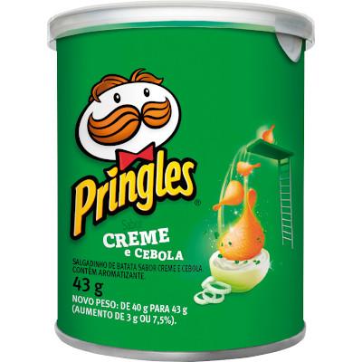 Batata Chips Creme e Cebola 43g Pringles lata UN