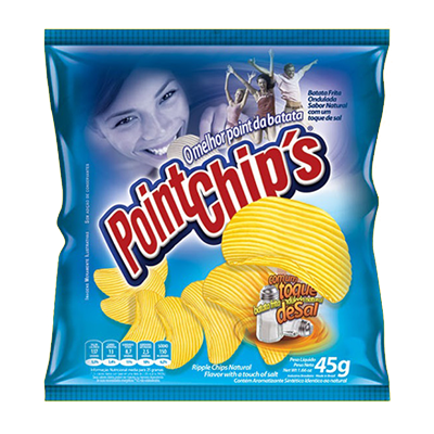 Batata Chips natural 40g Point Chips pacote PCT