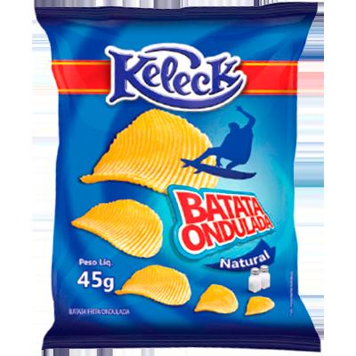 Batata Chips sabor natural 45g Keleck pacote PCT