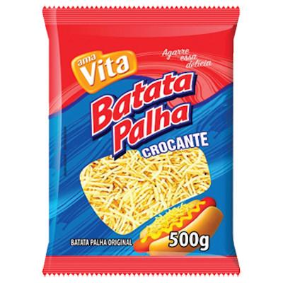 Batata Palha  500g Amavita pacote PCT