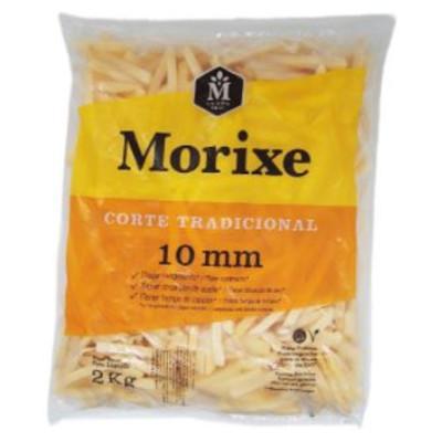 Batata Palito tradicional 10x10mm congelada 2kg Morixe pacote PCT