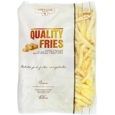 Batata Palito tradicional 10x10mm congelada 2kg Quality Fries pacote PCT