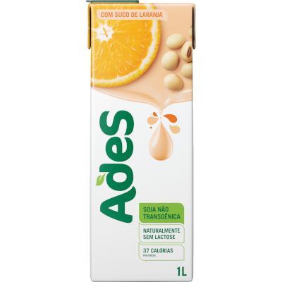 Bebida a base de soja sabor laranja 1Litro Ades Tetra Pak UN