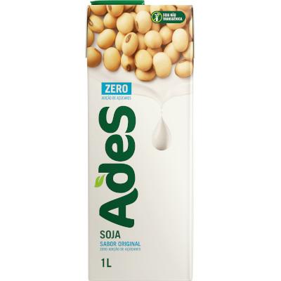 Bebida a base de soja sabor original Zero Tetra Pak 1Litro Ades UN