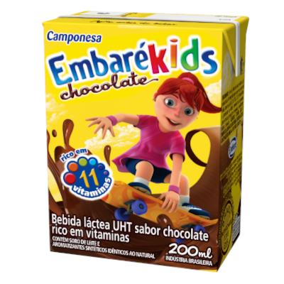 Bebida láctea sabor chocolate 200ml Camponesa/Embaré  UN