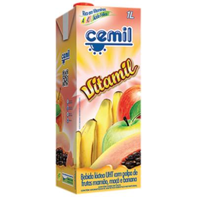 Bebida láctea Vitamina 1Litro Cemil Vitamil Tetra Pak UN