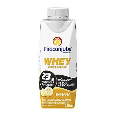 Bebida láctea zero lactose whey banana Tetra Pak 250ml Piracanjuba UN