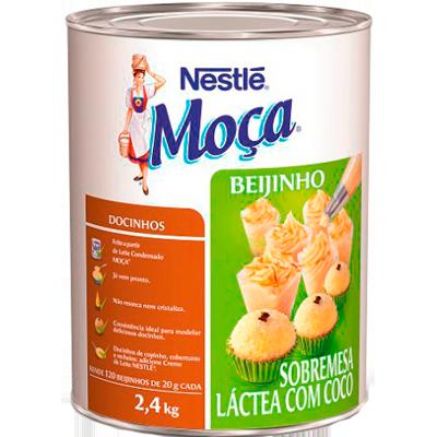 Beijinho pronto para consumo 2,4kg Nestlé/Moça lata UN
