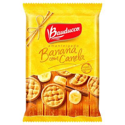 Biscoito doce amanteigado banana e canela pacote 375g Bauducco PCT