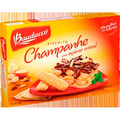 Biscoito doce champagne açúcar cristal 150g Bauducco pacote PCT