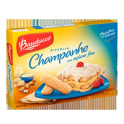 Biscoito doce champagne açúcar refinado pacote 150g Bauducco PCT