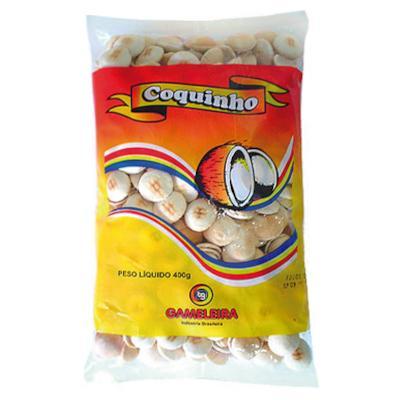 Biscoito doce coquinho 400g Gameleira pacote PCT