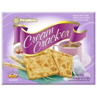 Biscoito doce cream cracker 400g Prodasa pacote PCT