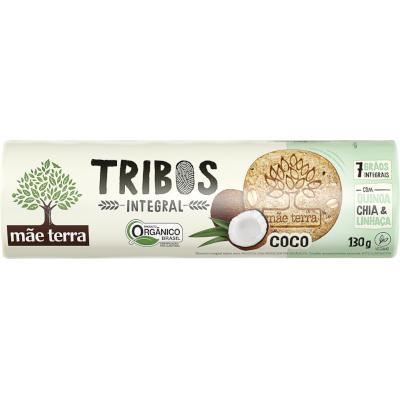 Biscoito doce integral orgânico sabor coco 130g Mãe Terra/Tribos pacote UN