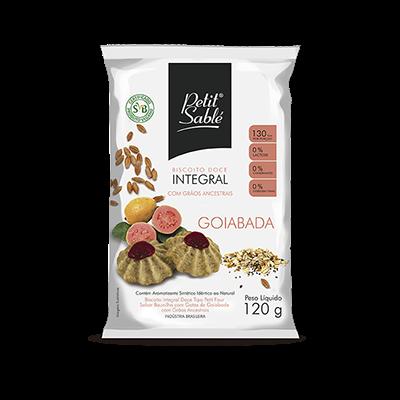 Biscoito doce integral vegano sabor goiabada pacote 120g Petit Sablé UN