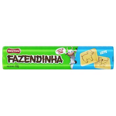 Biscoito doce leite 123g Fazendinha pacote PCT