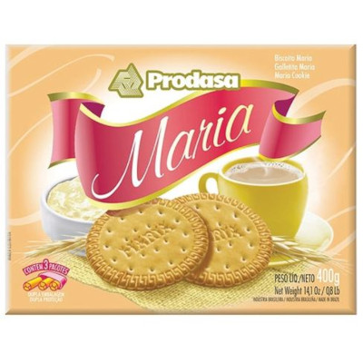 Biscoito doce Maria 400g Prodasa pacote PCT