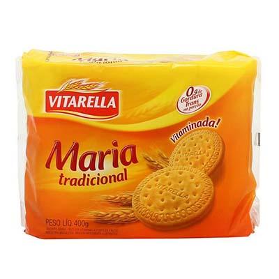 Biscoito doce Maria sabor tradicional pacote 400g Vitarella PCT