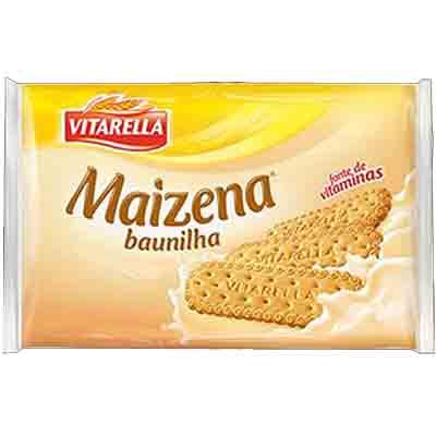 Biscoito doce sabor maizena e baunilha pacote 400g Vitarella PCT