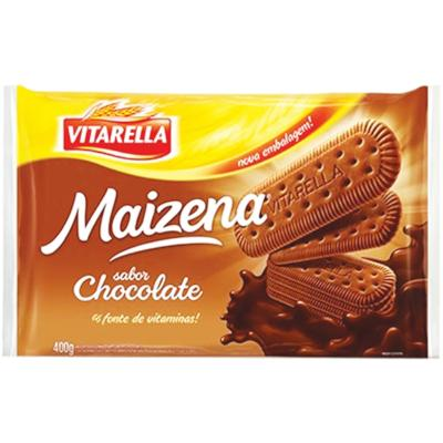 Biscoito doce sabor maizena e chocolate 400g Vitarella pacote PCT