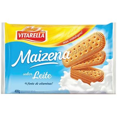 Biscoito doce sabor maizena e leite pacote 400g Vitarella PCT