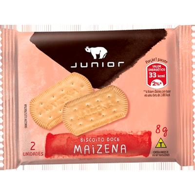 Biscoito doce sabor maizena unidades de 5 a 9g Junior em sachês UN
