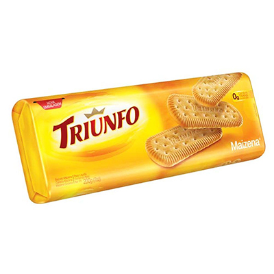 Biscoito doce sabor maizena pacote 200g Triunfo PCT
