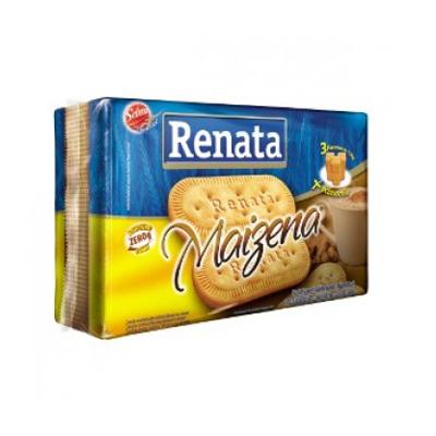 Biscoito doce sabor maizena pacote 360g Renata PCT