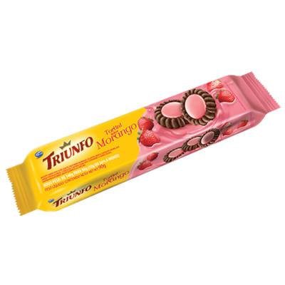 Biscoito doce sabor morango tortini 90g Triunfo pacote PCT
