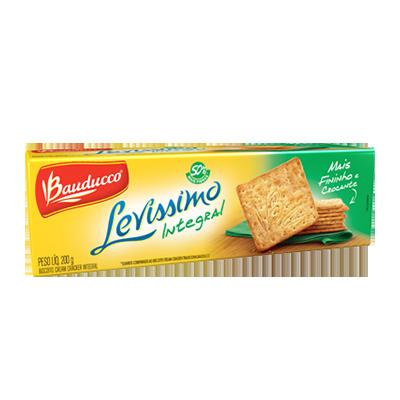 Biscoito integral cream cracker integral pacote 200g Levíssimo Bauducco PCT