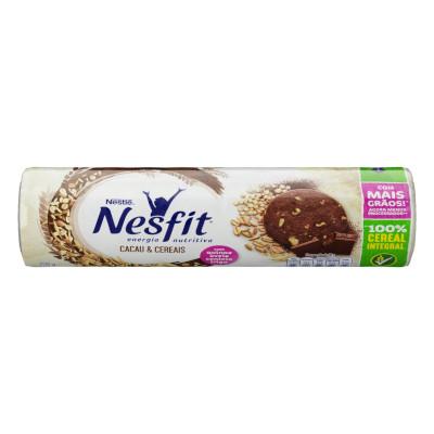 Biscoito integral sabor cacau e cereias 200g Nesfit pacote PCT