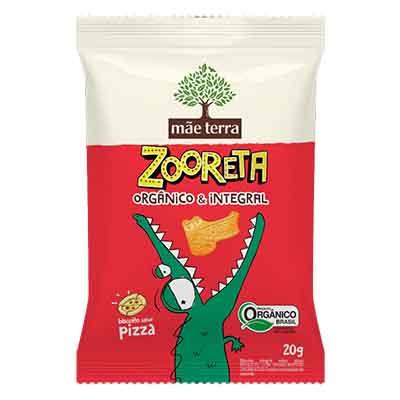 Biscoito integral sabor pizza pacote 20g Zooreta/Mãe Terra PCT