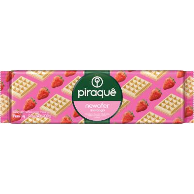 Biscoito Newafer sabor morango 100g Piraquê pacote PCT