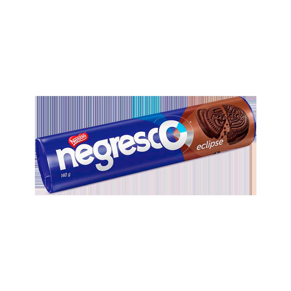 Biscoito recheado sabor Chocolate 140g Negresco/Eclipse pacote UN