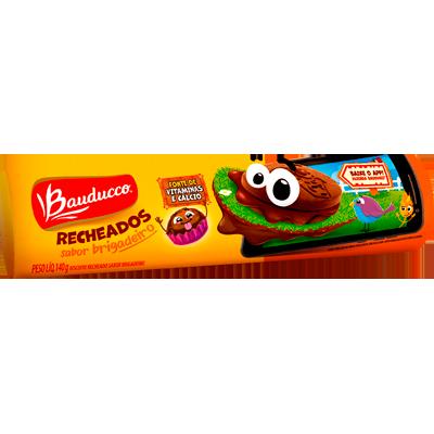 Biscoito recheado sabor brigadeiro pacote 104g Bauducco PCT