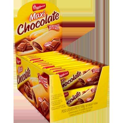 Biscoito recheado sabor chocolate 20 unidades de 25g Bauducco/Maxi caixa CX