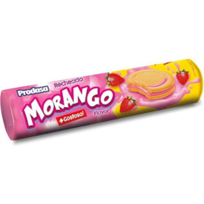 Biscoito recheado sabor morango 115g Prodasa pacote PCT
