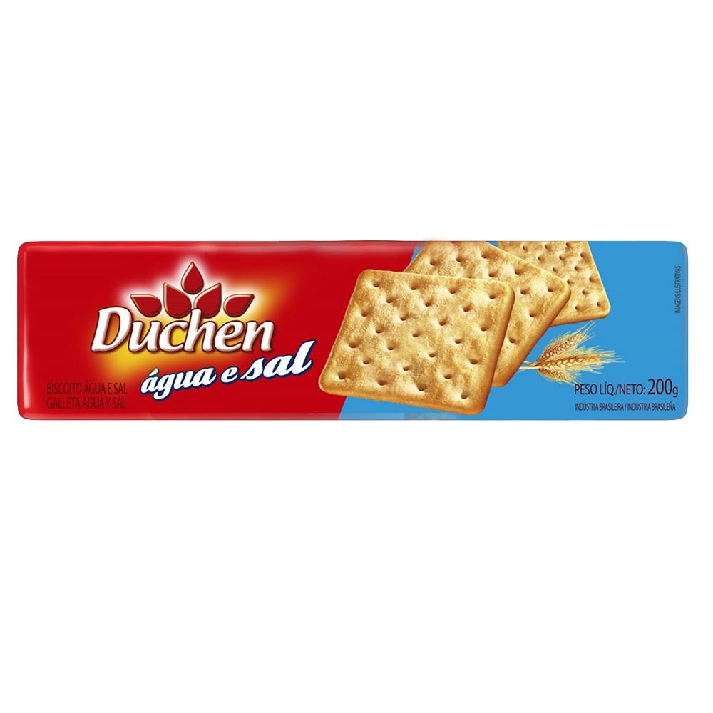 Biscoito salgado água e sal 200g Duchen pacote KG