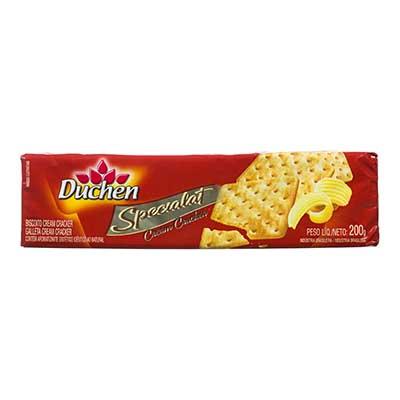 Biscoito salgado cream cracker manteiga pacote 200g Specialat/Duchen PCT